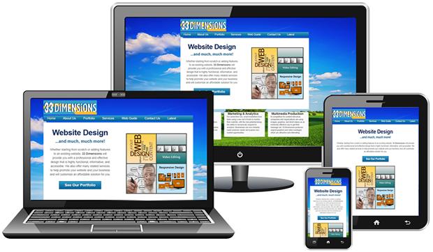 33 Dimensions Responsive Design