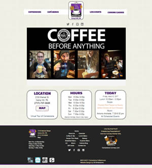 Cornerstone Coffeehouse design 2017