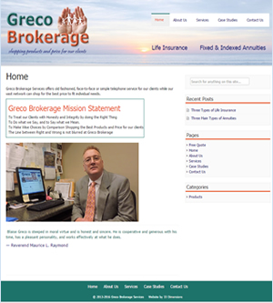 Greco Brokerage website screenshot