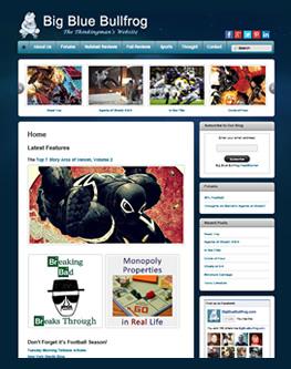 Big Blue Bullfrog  Website 2013