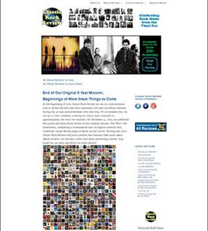 Classic Rock Review website screenshot