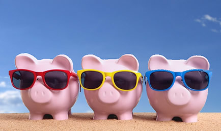 Summer Piggy Banks