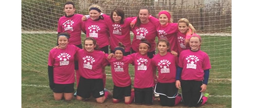 ORSA U12 girls soccer players