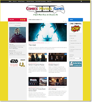 Comics Movies and Games