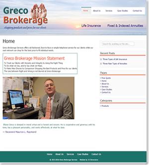 Greco Brokerage website screenshot